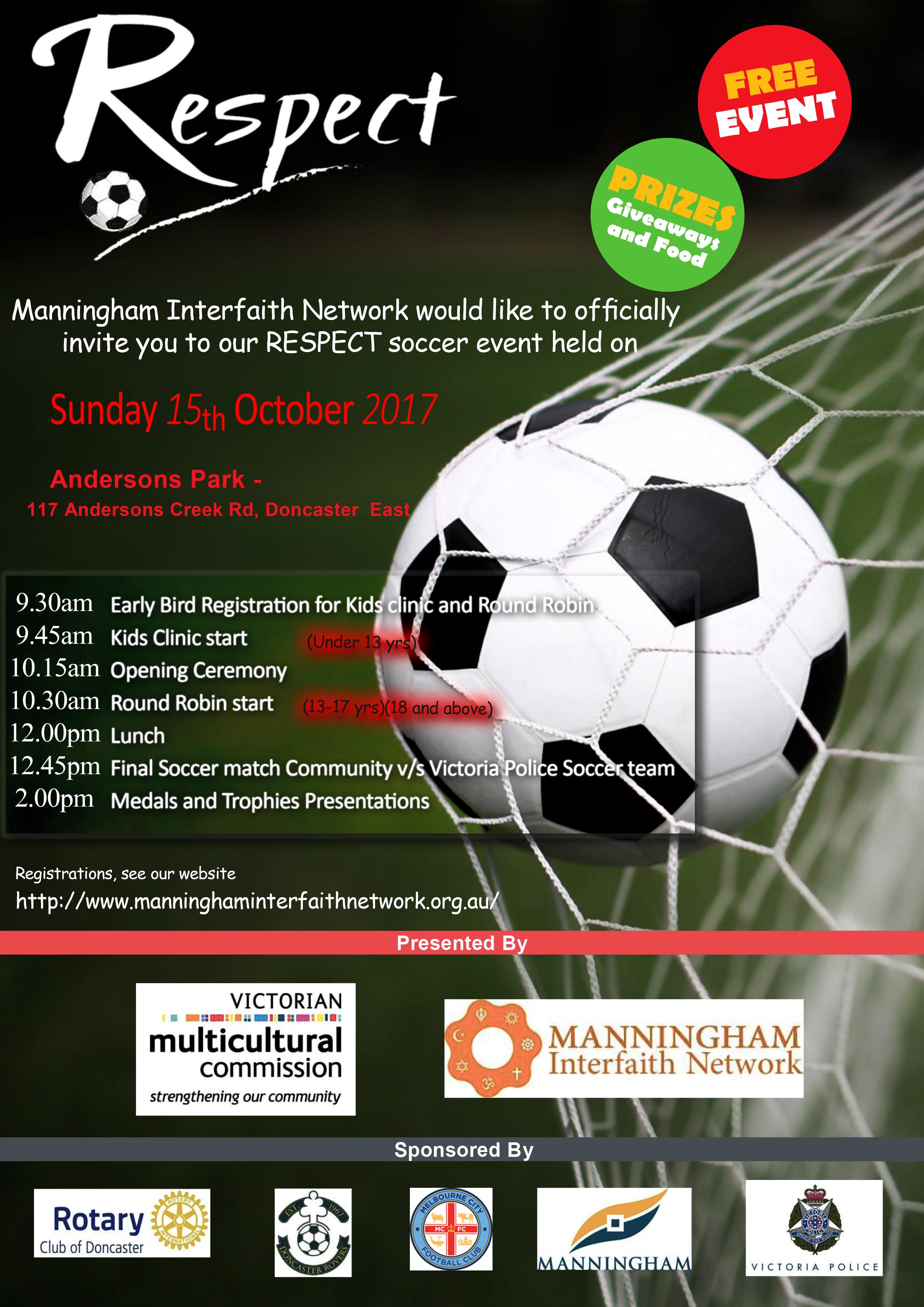 Respect soccer invite flyer sun 15 oct 17 manningham interfaith respect soccer invite flyer sun 15 oct 17 stopboris Gallery