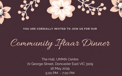 Community Iftaar Dinner – May 2019