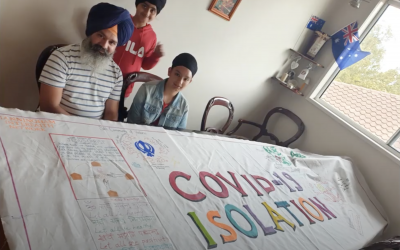 Sikh Community – Jaipreet Kaur contribution – Covid-19 Artwork Manningham Interfaith Network