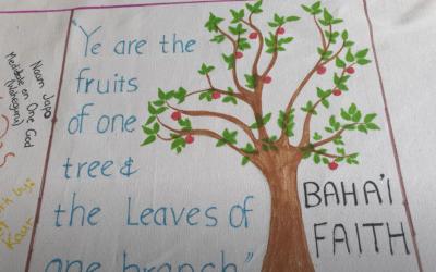 Baha'i faith Covid -19 Artwork contribution – Manningham Interfaith Network project